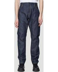 Moncler Embroidered Jeans In Navy - Blue