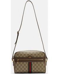 Gucci - Ophidia Gg Supreme Camera Bag In Brown - Lyst