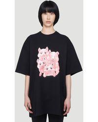 Vetements Naughty Pigs T-shirt - Black