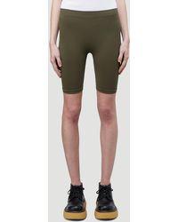 Helmut Lang Biker Shorts - Green