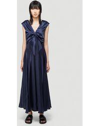 Simone Rocha V-neck Bias Dress - Blue