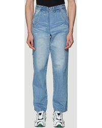 ADER error Phantom Unisex Denim Jeans In Blue