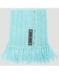 Miu Miu - Fringed Knit Collar - Lyst