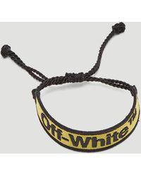 Off-White c/o Virgil Abloh Yellow Logo Macrame Bracelet