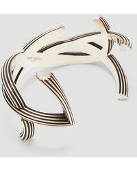 Saint Laurent - Monogram Cuff Bracelet - Lyst