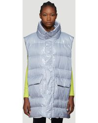 Unravel Project High Shine Padded Gilet In Gray