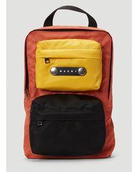 Marni Tri-colour Backpack In Orange