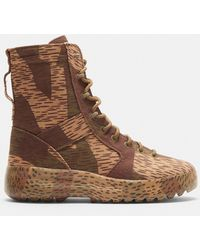 417130abe Yeezy - Splinter Camo Washed Canvas Military Boots In Camo - Lyst