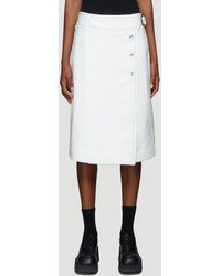 Marni Textured Button-up Skirt In White