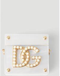 Dolce & Gabbana Logo Plaque Airpods Case - White