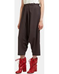132 5. Issey Miyake - Seamless Wrap Dropped Crotch Trousers In Grey - Lyst
