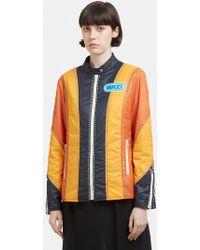 Gucci - Bejewelled Spiritismo Patchwork Jacket In Orange - Lyst