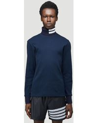 Thom Browne Male Blue 100% Cotton. Dry Clean.