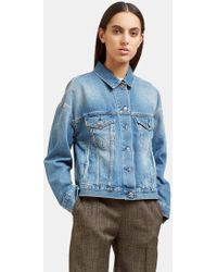 Acne Studios - Women's Lab Mid Vintage Denim Jacket In Blue - Lyst