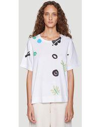 Marni Printed T-shirt In White