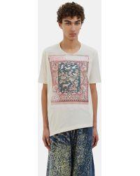 Anntian - Men's Tapestry Print T-shirt In Ecru - Lyst