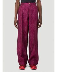 Walter Van Beirendonck Textured Pants - Pink