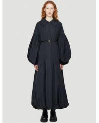 Jil Sander Puff-sleeved Dress - Black
