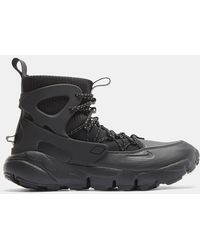 Nike Air Footscape Mid Utility Trainers In Black
