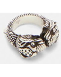 Gucci - Vintage Tiger Ring In Silver - Lyst