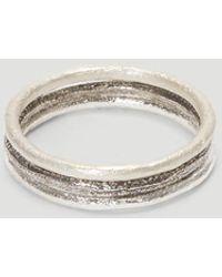 Pearls Before Swine Stacking Ring Set - Metallic