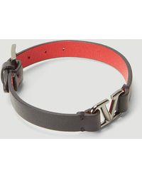 Valentino Vlogo Leather Bracelet - Black