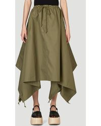 Hyke Shell Skirt In Green