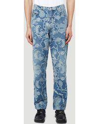 Martine Rose Etched Jeans - Blue