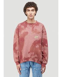 Stain Shade Tie-dye Russell Athletic Sweatshirt - Red