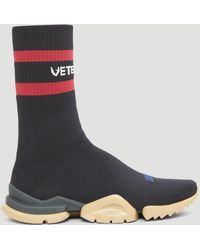Vetements - X Reebok Stretch-knit Sneakers In Black - Lyst