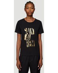 Saint Laurent Logo Print T-shirt - Black