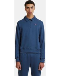 Russell Athletic - Carnegie Collar Half-zip Sweater In Navy - Lyst