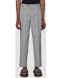 Gucci Prince Of Wales Check Pants - Grey