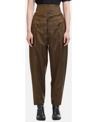 Capara - Layered Tapered Trousers 8 In Brown - Lyst
