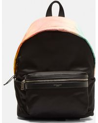 Saint Laurent - Faded Rainbow City Backpack In Black - Lyst