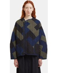 STORY mfg. - Tellus Quilted Patchwork Jacket In Indigo, Black And Khaki - Lyst