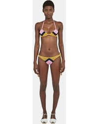 All That Remains - Women's Sugar Zigzag Bikini In Pink, Navy And Yellow - Lyst
