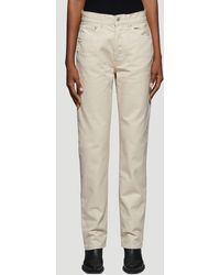 Off-White c/o Virgil Abloh Diag Straight Leg Jeans In Beige - Natural