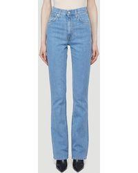 Helmut Lang Femme Hi Bootcut Jeans - Blue