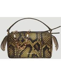 Wandler Yara Box Python-effect Handbag - Green