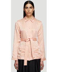Off-White c/o Virgil Abloh Logo Pyjama Shirt In Pink