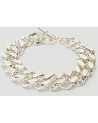 Pearls Before Swine Sliced Xl Link Bracelet In Silver - Metallic