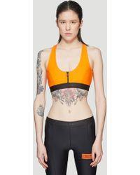 1522e5ae4a2 Heron Preston - Elastic Zipper Top In Orange - Lyst