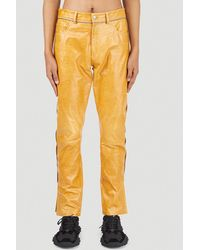 Youths in Balaclava Leather Trousers - Yellow