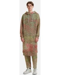 Anntian - Speckled Schooler Hoodie Dress In Red And Green - Lyst