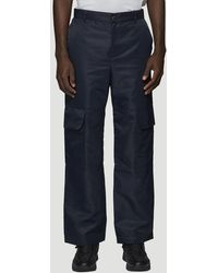 Paria Farzaneh Patch Pocket Trousers In Navy - Blue