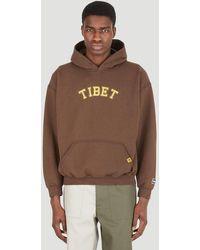 LIBERAIDERS Tibet Hooded Sweatshirt - Brown