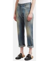 Gucci - Tapered Denim Jeans In Blue - Lyst