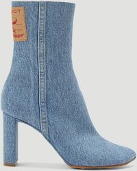 Y. Project Denim Heeled Boots - Blue