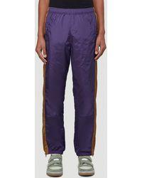 Acne Studios Striped Track Pants - Purple